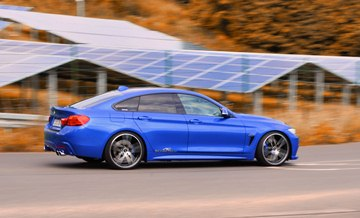 The AC Schnitzer suspension spring kit lowers the 4-Series by up to 25 mm at the 