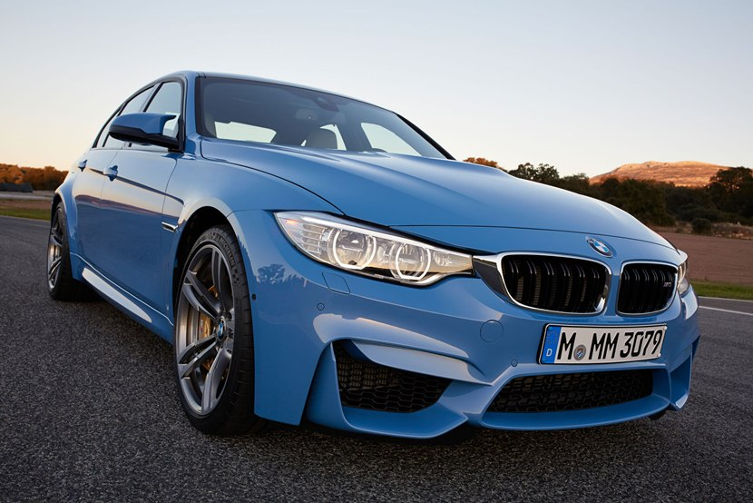 2015 Bmw M3 Sedan Front Photo Yas Marina Blue Metallic