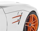 detail, orange wheels