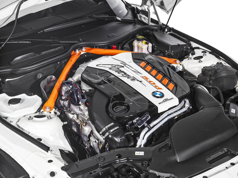 engine, 3.0-liter diesel engine, M50d, 424 horsepower