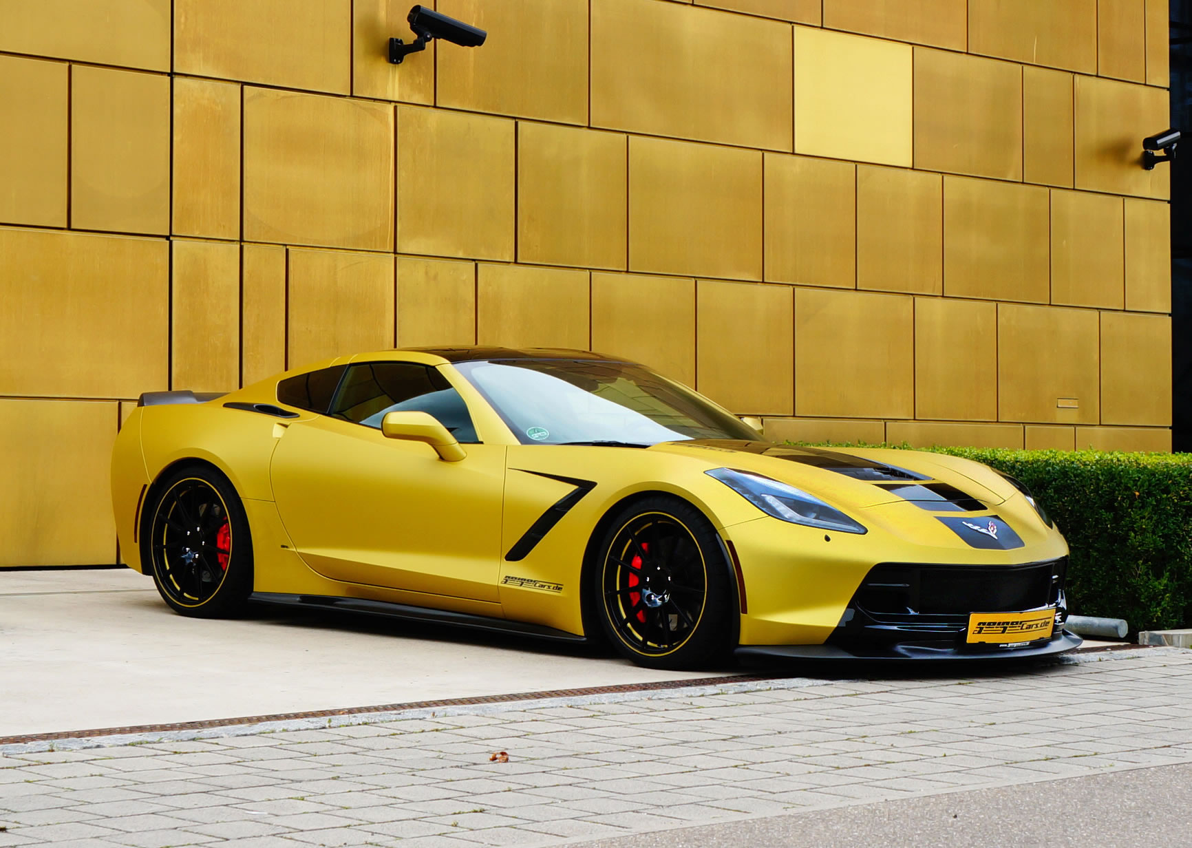 Ford Mustang Hennessey >> 2015 Chevrolet Corvette by GeigerCars - front photo, Motorsport Gold color, size 1732 x 1232, nr ...