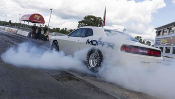 The 2015 Dodge Challenger Drag Pak test vehicle is the next step in the 