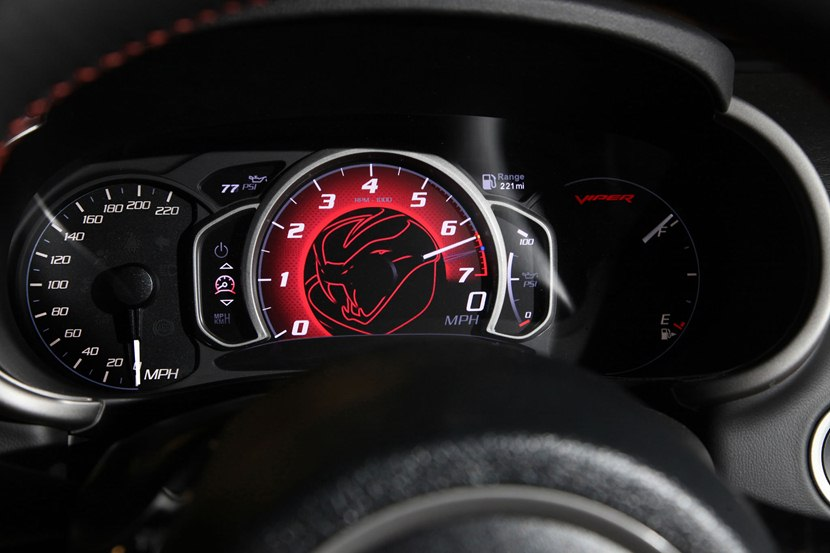 Interior, RPM Gauge, Speedometer. 2015 Dodge Viper ...