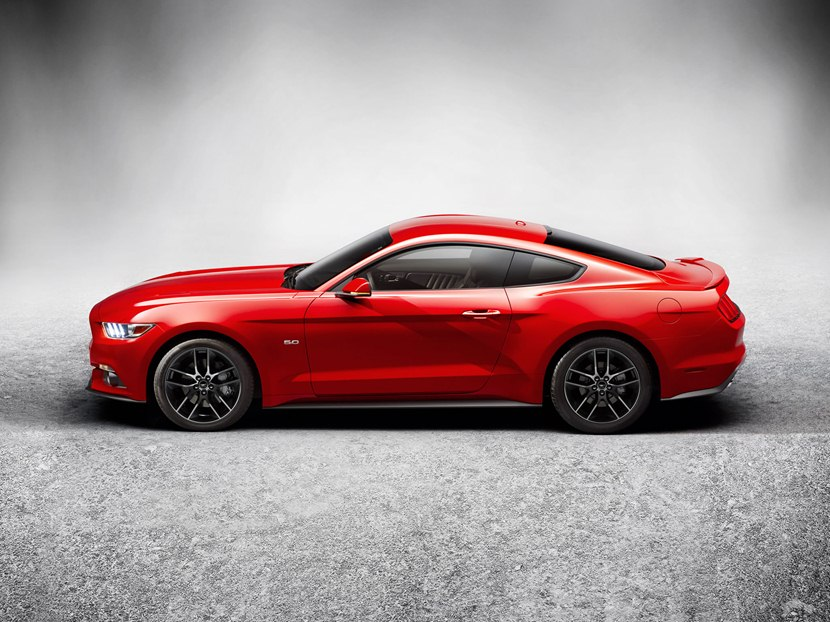 2015 Ford Mustang Gt Side Photo Race Red Color Size