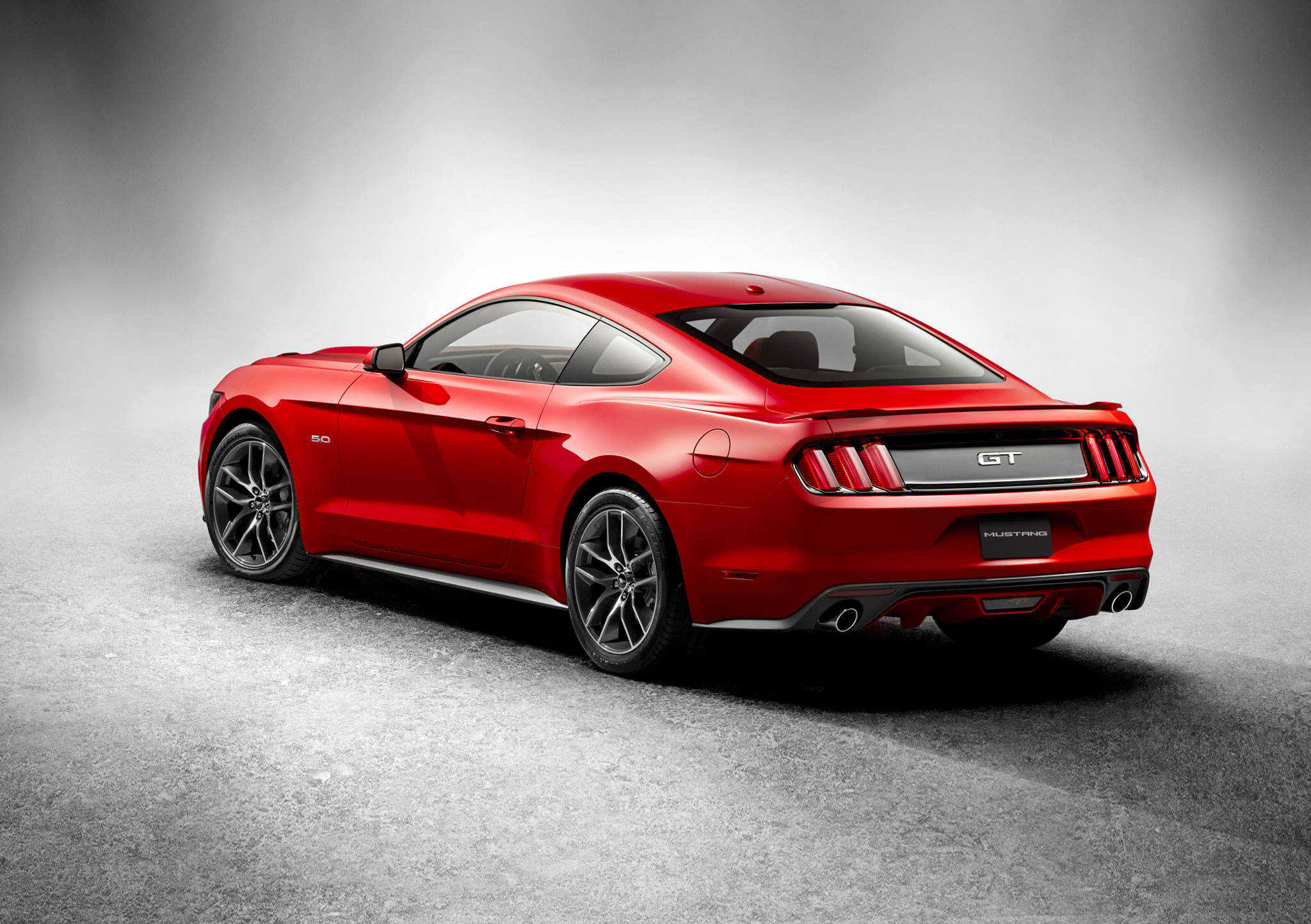 2015 Ford Mustang GT - rear photo, Race Red color, size ...