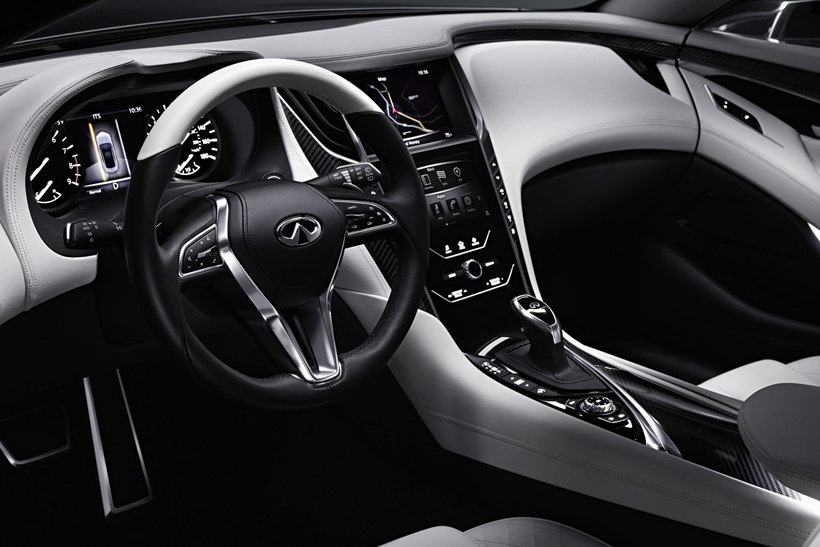 Mustang Steering Wheel >> 2015 Infiniti Q60 Concept - interior photo, steering wheel, instrument cluster, size 2048 x 1365 ...