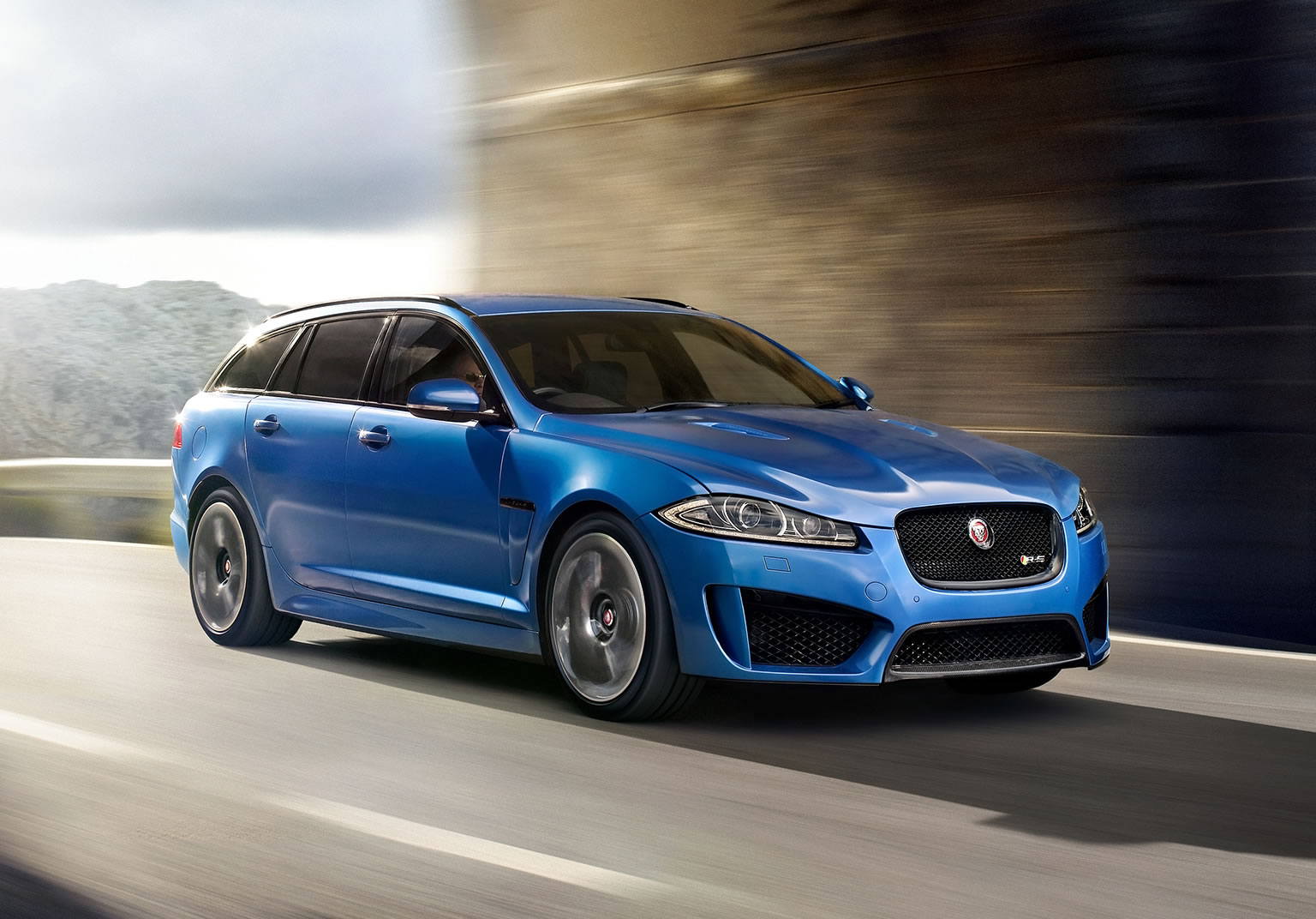 2015 jaguar xfr s sportbrake front photo ultra blue. Black Bedroom Furniture Sets. Home Design Ideas