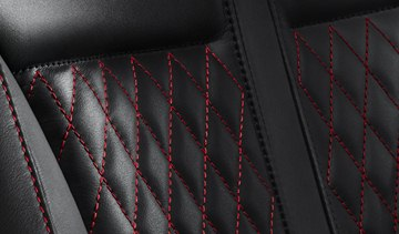 Inside, the XK Dynamic R boasts Jaguar's new diamond sewn Performance seat in 