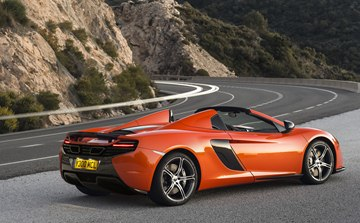 The McLaren 650S Spider is a no compromise open-top high performance sports car.