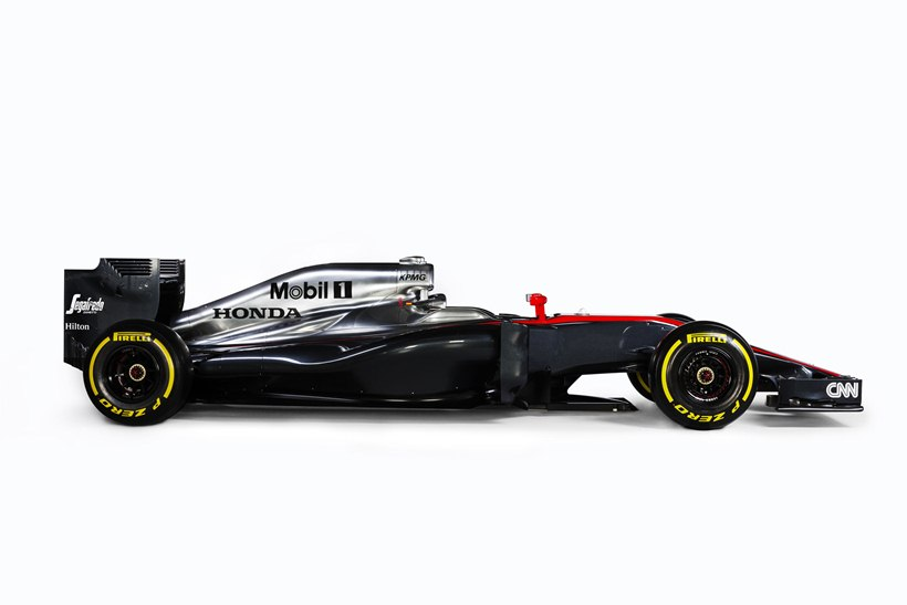 side, sponsor CNN, black and gray livery