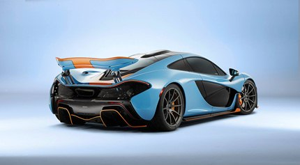 This McLaren P1 in Gulf Oil livery was commissioned by businessman and philanthropist Miles Nadal.