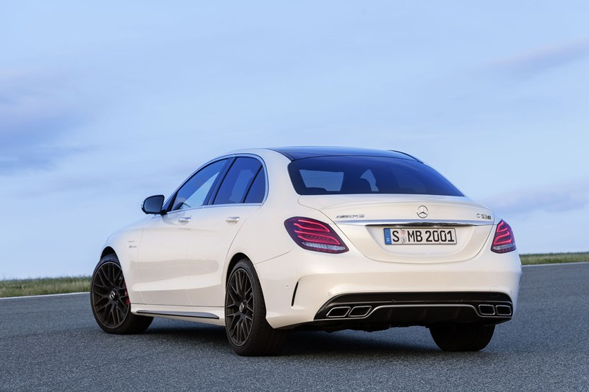 2015 Mercedes Benz Amg C63 S Rear Photo Polar White