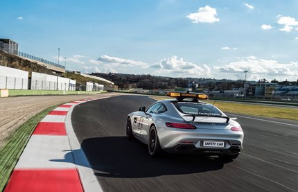 The new Mercedes-AMG GT S will guide the Formula 1 field safely around the track 