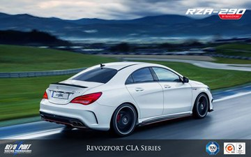 The RZA-290 for CLA Class includes a front add-on splitter, a pair of canard to 