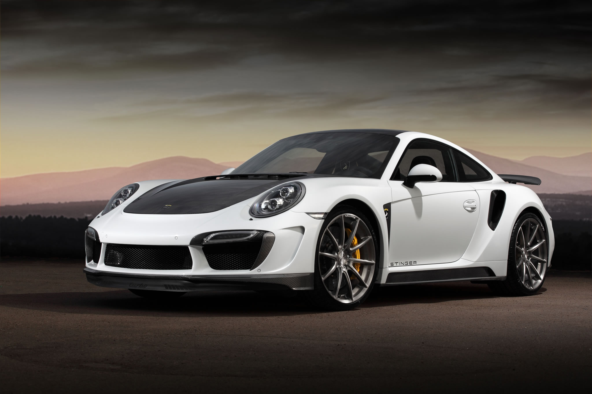 2015 porsche 911 turbo s stinger gtr by topcar front. Black Bedroom Furniture Sets. Home Design Ideas