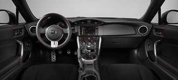 Inside, the FR-S RS1 features a TRD steering wheel, TRD shift knob and black seats with T-pattern.