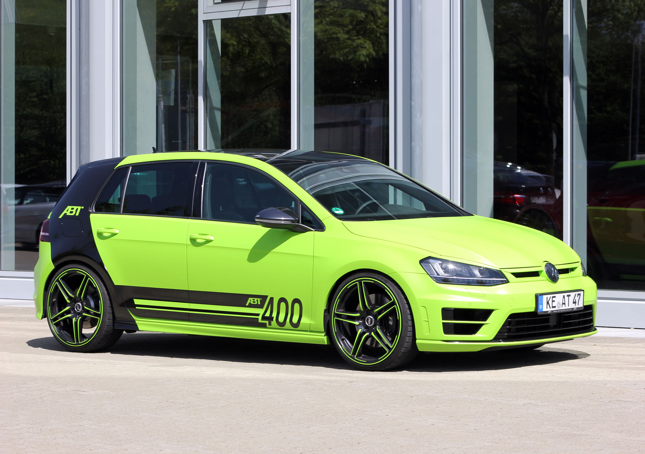 2015 volkswagen golf r 400 by abt front photo green exterior color size 2048 x 1444 nr 1 8. Black Bedroom Furniture Sets. Home Design Ideas
