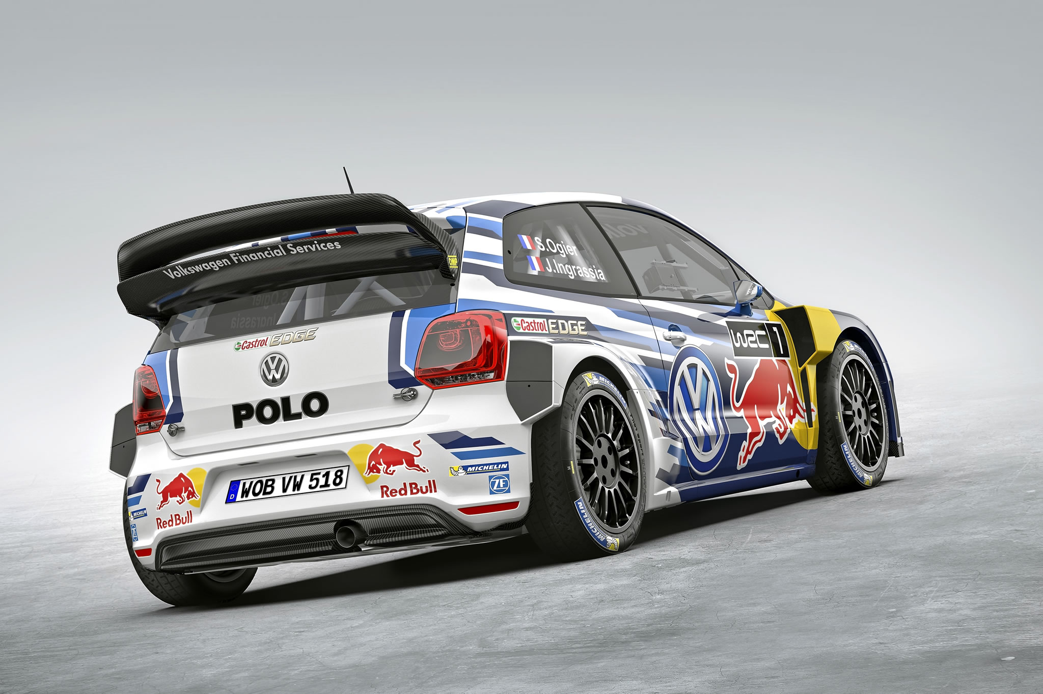 2015 volkswagen polo r wrc rally car rear photo. Black Bedroom Furniture Sets. Home Design Ideas