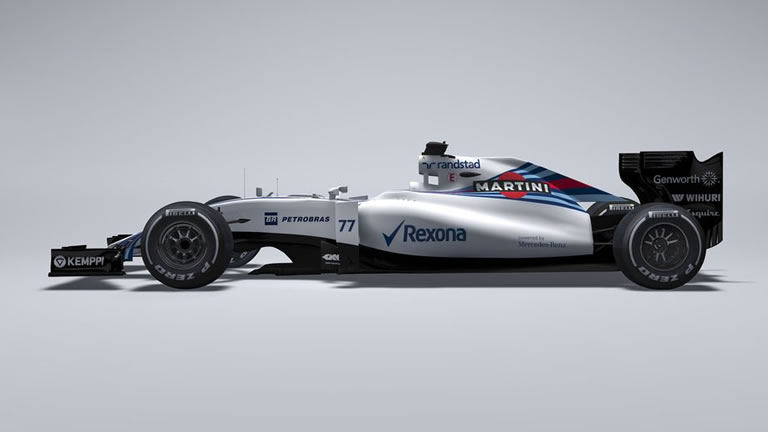 2015 Williams Martini Racing Mercedes FW37 Formula 1 Car