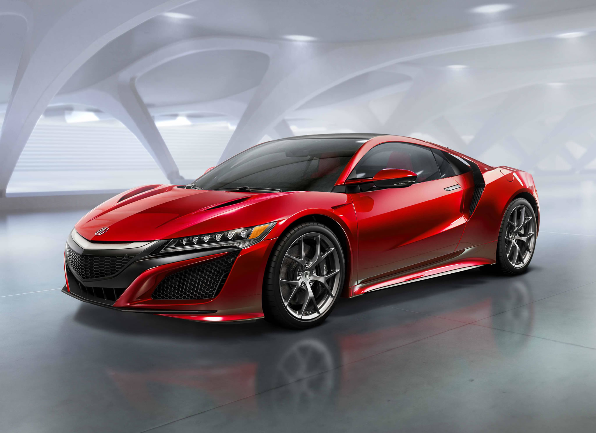 2016 Acura NSX  front photo, NSX Red paint, size 2048 x 1489, nr. 1