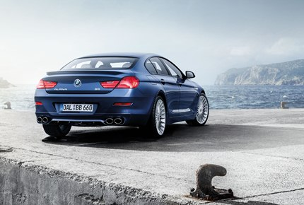 The B6 Gran Coupe features a full stainless steel exhaust system with Alpina 