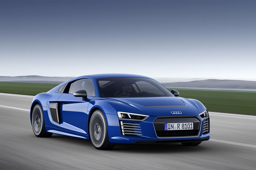 2016 Audi R8 etron  front photo, blue color, size 2048 x 1365, nr. 4