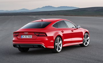 The revised Audi RS 7 Sportback is fitted with 20-inch forged lightweight alloy 