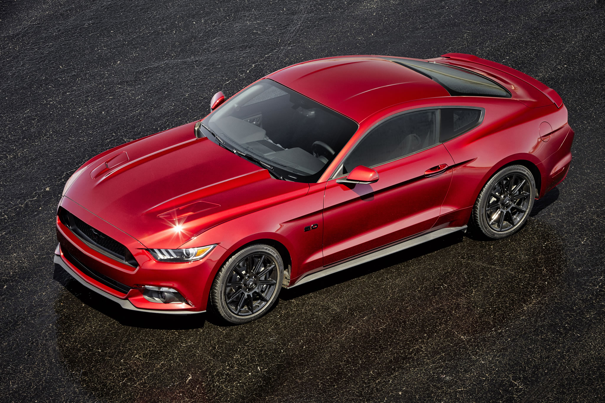 2016 Ford Mustang Gt Front Photo Ruby Red Paint Black