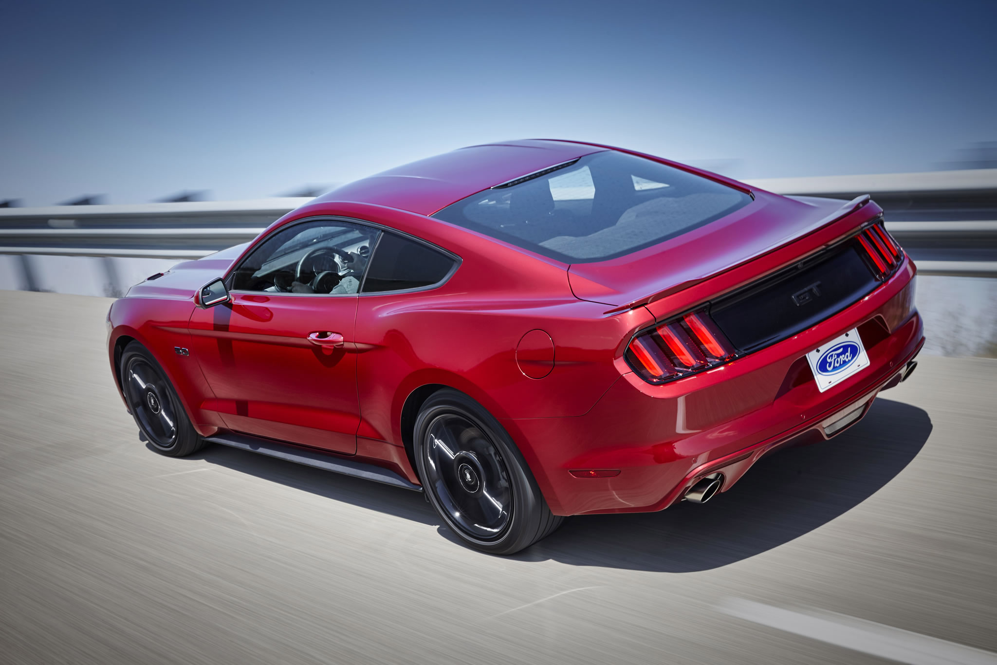2016 ford mustang gt rear photo ruby red paint black accent package size 2048 x 1366 nr 5. Black Bedroom Furniture Sets. Home Design Ideas