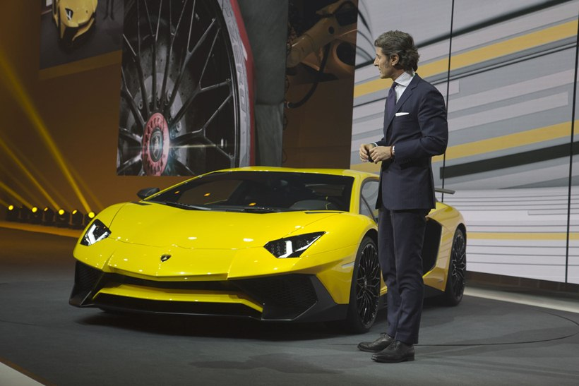 2016 Lamborghini Aventador LP 7504 Superveloce  front photo, yellow