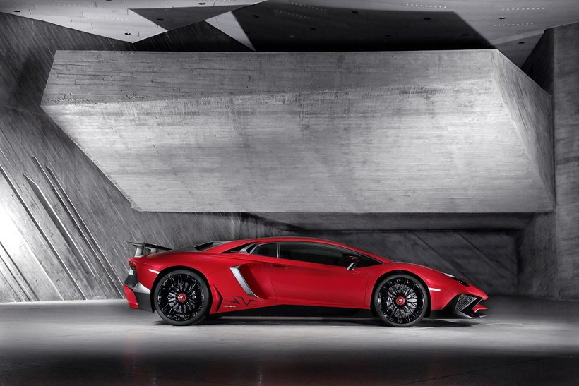 2016 Lamborghini Aventador LP 7504 Superveloce, side photo, Rosso Bia