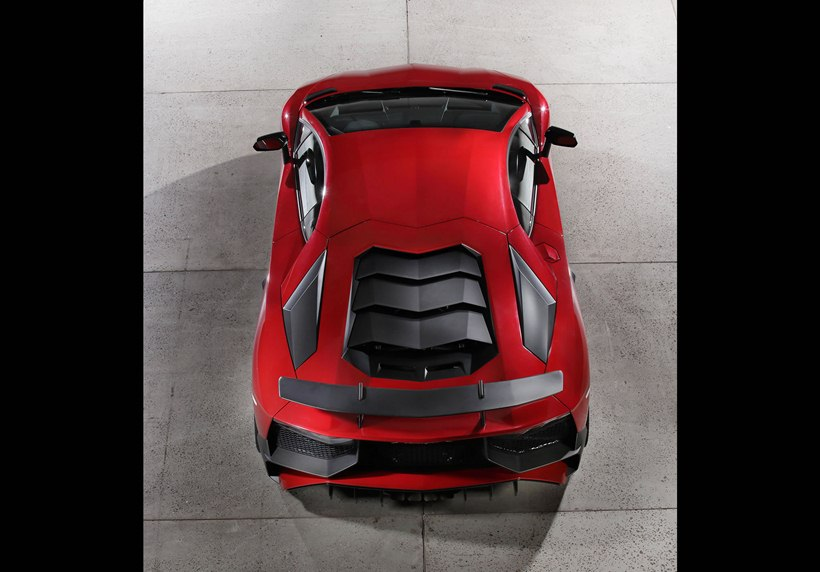 2016 Lamborghini Aventador LP 7504 Superveloce, rear photo, Rosso Bia