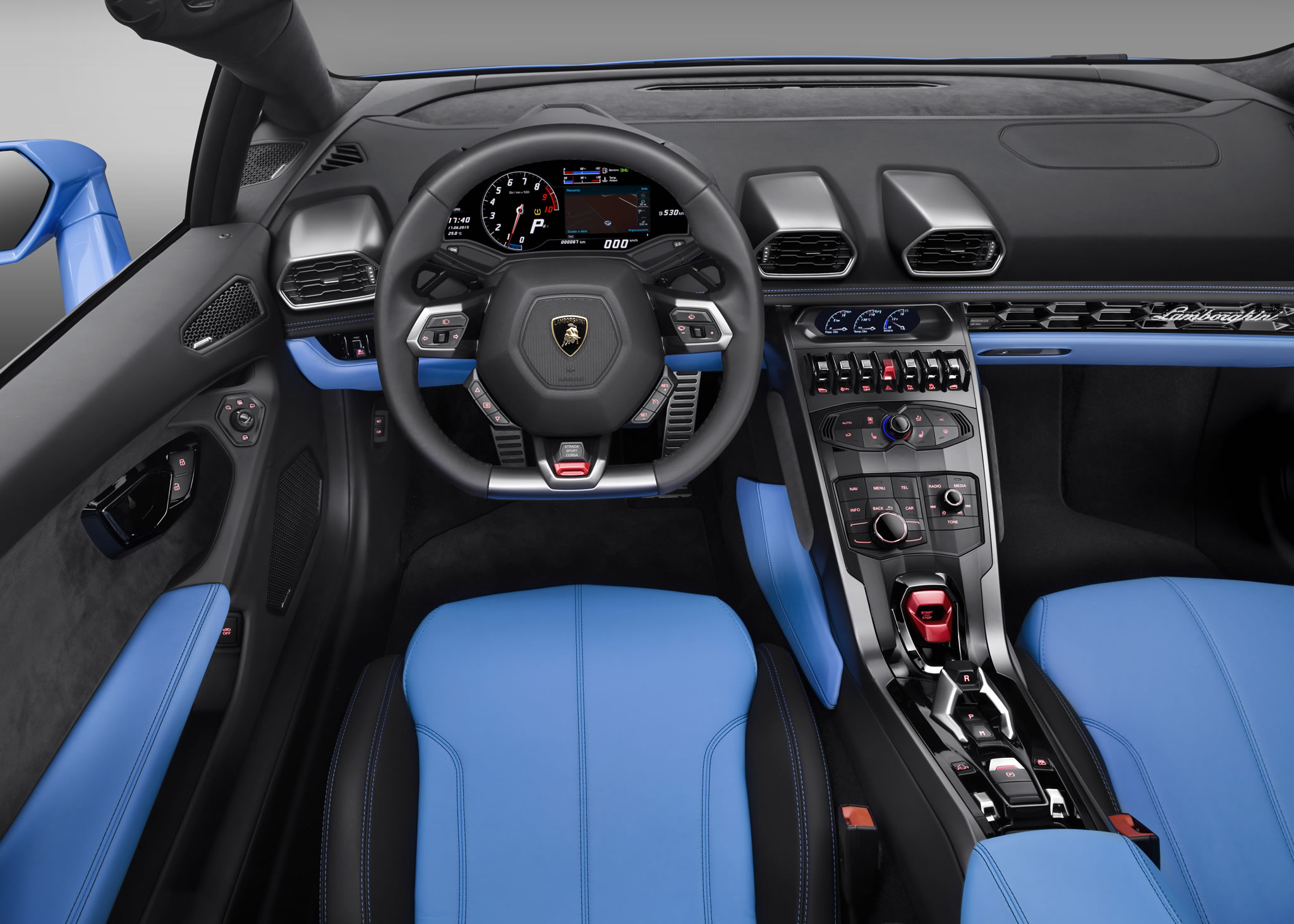 2016 lamborghini huracan lp610 4 spyder interior photo steering wheel das. Black Bedroom Furniture Sets. Home Design Ideas