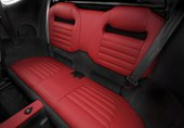 interior, optional rear seats, Venom Red leather