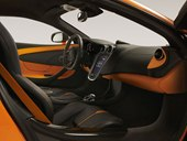 interior, black trim, orange accents