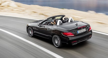 Numerous design features immediately identify the 2016 SLC43 as a member of the 