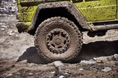 detail, muddy wheels