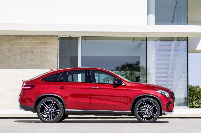 2016 Mercedes-Benz GLE 450 AMG Coupe - side photo, Designo Hyacinth Red Metallic color, size ...