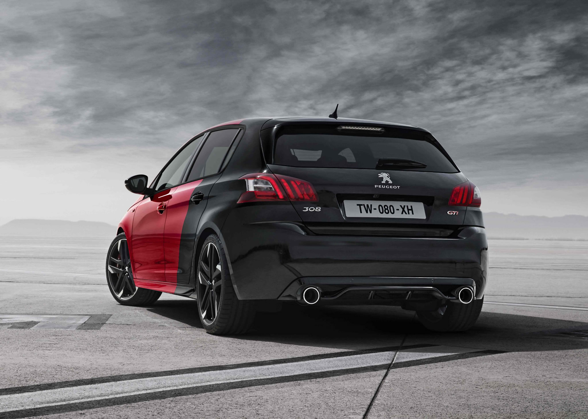 2016 Peugeot 308 Gti 270 Rear Photo Red And Black Color