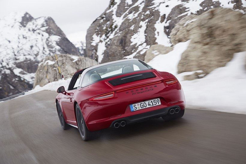 2016 Porsche 911 Targa 4 Gts Rear Photo Red Exterior Color Size