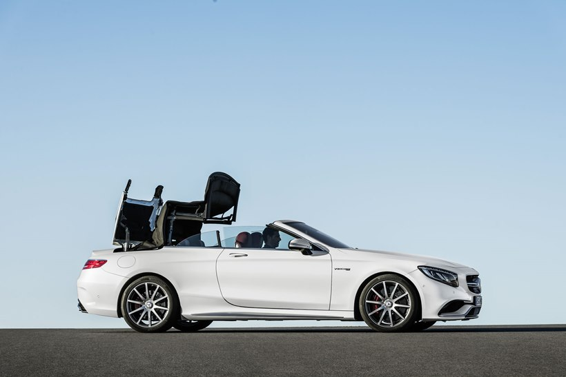 2017 Mercedes Benz Amg S63 Convertible Front Photo Roof
