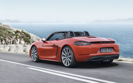 The redesigned rear fascia of the 718 Boxster models places a much greater 