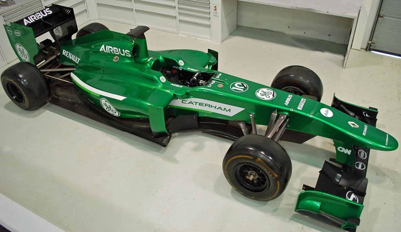 Caterham Formula 1 Team S Equipment For Sale Front Photo