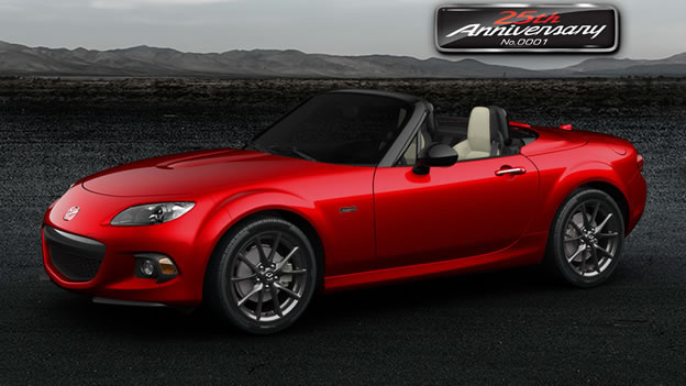 2015 mazda mx 5 miata 25th anniversary edition sold out in 10 minutes. Black Bedroom Furniture Sets. Home Design Ideas