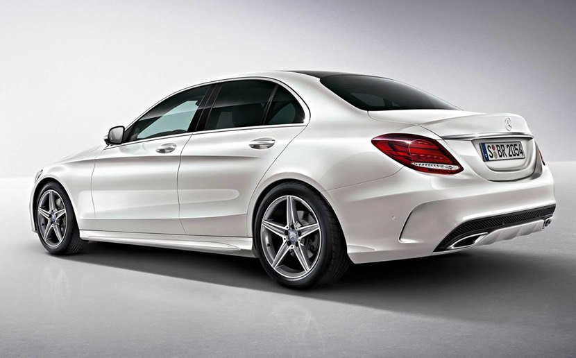 rear white color 2014 mercedes benz c class