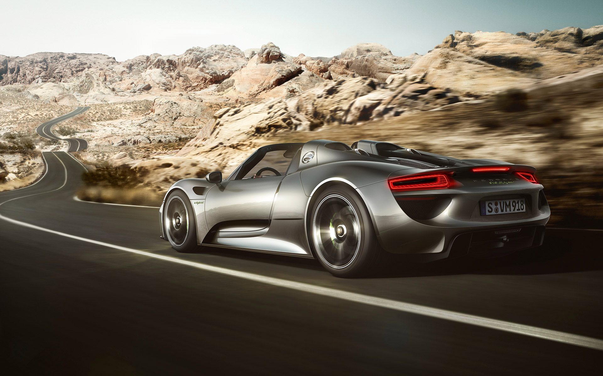 larger view create wallpaper front acceleration 2015 porsche 918 spyder - Porsche Spyder 918 Wallpaper