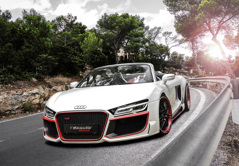 2013 Audi R8 V10 Spyder by Regula Tuning - front photo, white color ...