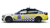 The Australian Police Force BMW 530d Highway Patrol Car