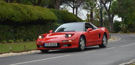 Ayrton Senna S Red Honda Nsx Front Photo Algarve Size