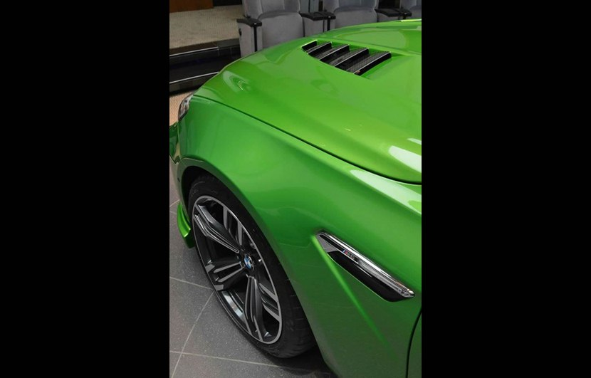 bmw  gran coupe  java green color detail photo hood air vent size    nr